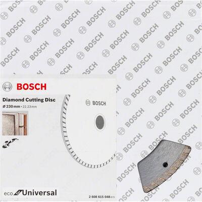 Bosch Ekonomik Seri 9+1 Genel Yapı Malzemeleri İçin Elmas Kesme Diski 230 mm Turbo BOSCH