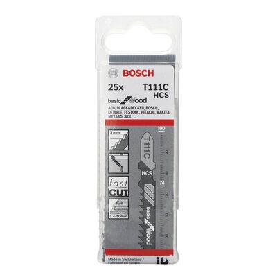 Bosch Ekonomik Seri Ahşap İçin T 111 C Dekupaj Testeresi Bıçağı - 25'Li Paket BOSCH