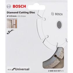 Bosch Ekonomik Seri Genel Yapı Malzemeleri İçin Elmas Kesme Diski 115 mm - Thumbnail