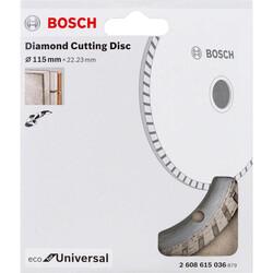 Bosch Ekonomik Seri Genel Yapı Malzemeleri İçin Elmas Kesme Diski 115 mm Turbo - Thumbnail