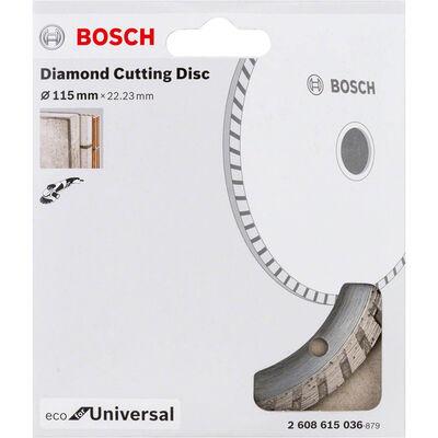 Bosch Ekonomik Seri Genel Yapı Malzemeleri İçin Elmas Kesme Diski 115 mm Turbo BOSCH