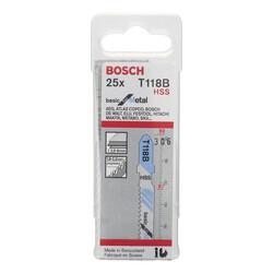 Bosch Ekonomik Seri Metal İçin T 118 B Dekupaj Testeresi Bıçağı - 25'Li Paket - Thumbnail