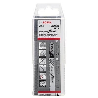 Bosch Ekstra Temiz Kesim Serisi Ahşap İçin T 308 B Dekupaj Testeresi Bıçağı - 25'Li Paket BOSCH