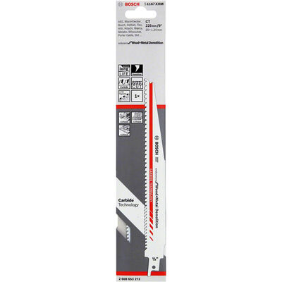 Bosch Endurance for Serisi Ahşap ve Metal için Panter Testere Bıçağı S 1167 XHM 1'li BOSCH