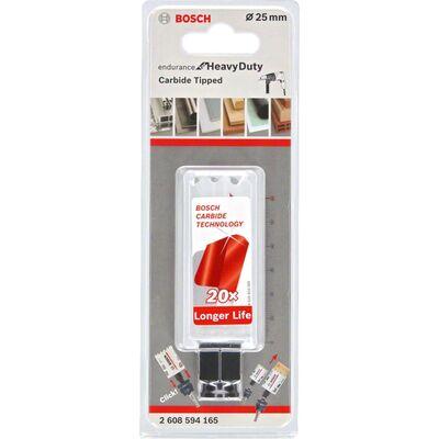 Bosch Endurance Serisi Zorlu Malzemeler için Karpit Delik Açma Testeresi (Panç) 25 mm BOSCH