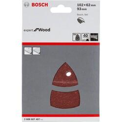 Bosch Expert for Serisi Ahşap Zımpara 102x62/93x93 mm 40 kum - Thumbnail