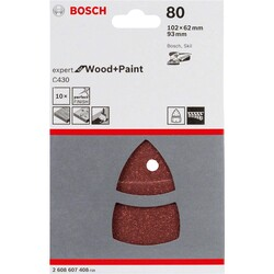 Bosch Expert for Serisi Ahşap Zımpara 102x62/93x93 mm 80 kum - Thumbnail