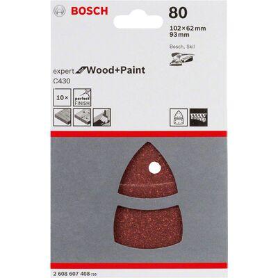 Bosch Expert for Serisi Ahşap Zımpara 102x62/93x93 mm 80 kum BOSCH