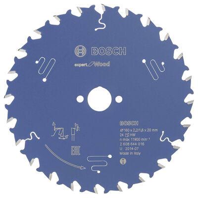 Bosch Expert Serisi Ahşap için Daire Testere Bıçağı 160*20 mm 24 Diş