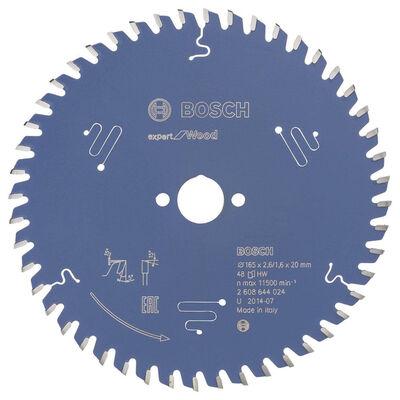 Bosch Expert Serisi Ahşap için Daire Testere Bıçağı 165*20 mm 48 Diş
