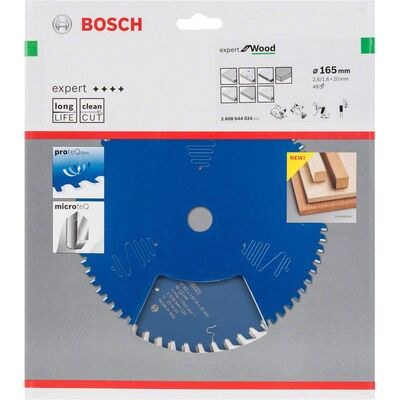 Bosch Expert Serisi Ahşap için Daire Testere Bıçağı 165*20 mm 48 Diş BOSCH