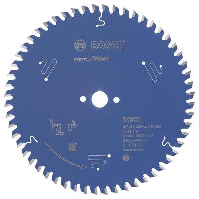 Bosch Expert Serisi Ahşap için Daire Testere Bıçağı 184*16 mm 56 Diş