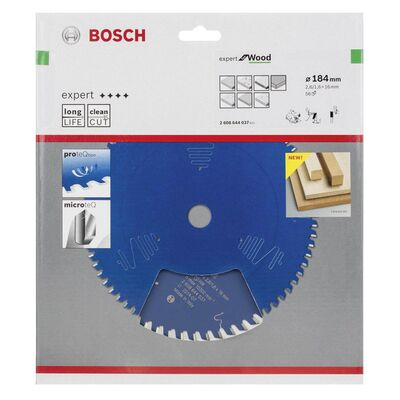 Bosch Expert Serisi Ahşap için Daire Testere Bıçağı 184*16 mm 56 Diş BOSCH