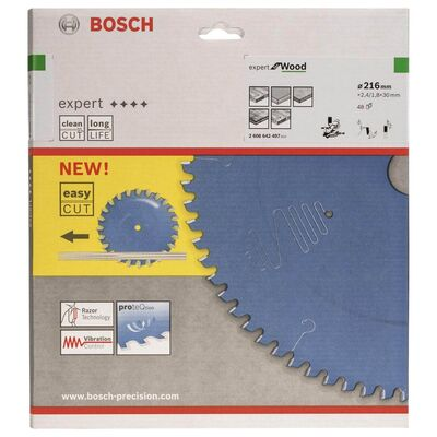Bosch Expert Serisi Ahşap için Daire Testere Bıçağı 216*30 mm 48 Diş BOSCH