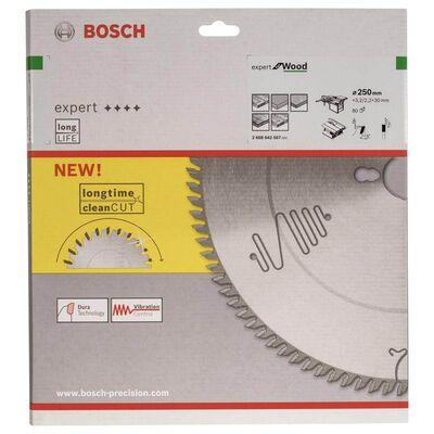 Bosch Expert Serisi Ahşap için Daire Testere Bıçağı 250*30 mm 80 Diş BOSCH