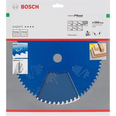 Bosch Expert Serisi Ahşap için Daire Testere Bıçağı 260*30 mm 60 Diş BOSCH