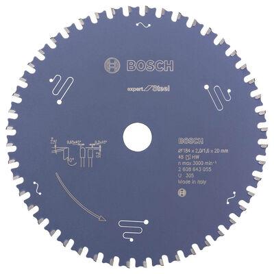 Bosch Expert Serisi Metal için Daire Testere Bıçağı 184*20 mm 48 Diş