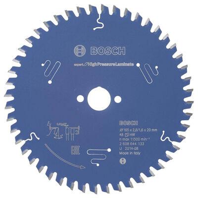 Bosch Expert Serisi Yüksek Basınçlı Lamine Panel ve Trespa için Daire Testere Bıçağı 165*20 mm 48 Diş