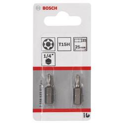 Bosch Extra Hard Serisi Security-Torx® Vidalama Ucu T15H*25 mm 2li - Thumbnail