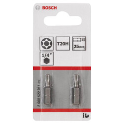 Bosch Extra Hard Serisi Security-Torx® Vidalama Ucu T20H*25 mm 2li - Thumbnail