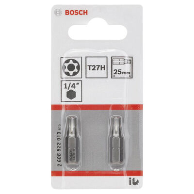 Bosch Extra Hard Serisi Security-Torx® Vidalama Ucu T27H*25 mm 2li BOSCH