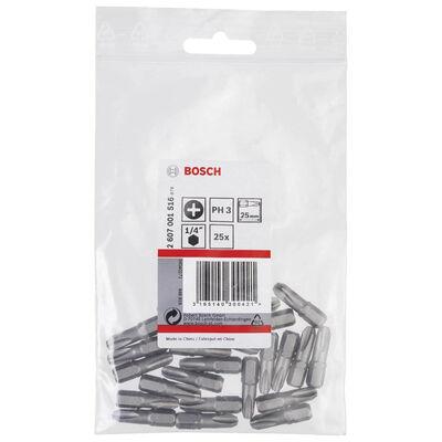 Bosch Extra Hard Serisi Vidalama Ucu PH3*25 mm 25'li BOSCH