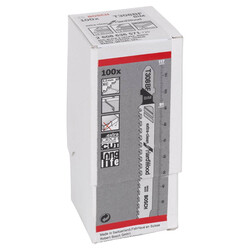 Bosch Extra Temiz Kesim Serisi Sert Ahşap İçin T 308 BF Dekupaj Testeresi Bıçağı - 100'Lü Paket - Thumbnail