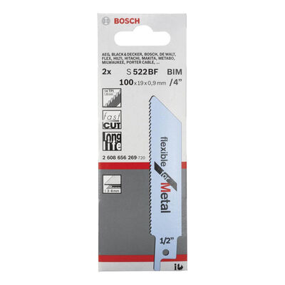 Bosch Flexible Serisi Metal için Panter Testere Bıçağı S 522 BF - 2'li BOSCH