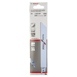 Bosch Flexible Serisi Metal için Panter Testere Bıçağı S 922 AF - 5'li - Thumbnail