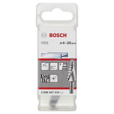 Bosch HSS 9 Kademeli Matkap Ucu 4-20 mm BOSCH
