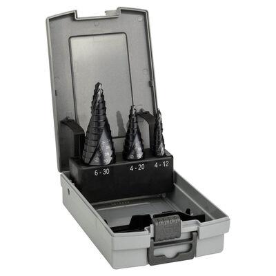 Bosch HSS-AlTiN 3'lü Pro-box 4-12,4-20,6-30 mm