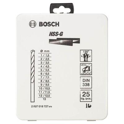 Bosch HSS-G Metal Matkap Ucu Seti 25 Parça BOSCH