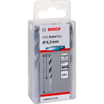 Bosch HSS-PointeQ Metal Matkap Ucu 4,2 mm 10'lu BOSCH