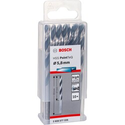 Bosch HSS-PointeQ Metal Matkap Ucu 5,8 mm 10'lu - Thumbnail