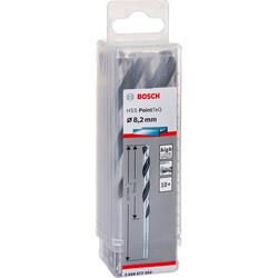 Bosch HSS-PointeQ Metal Matkap Ucu 8,2 mm 10'lu - Thumbnail