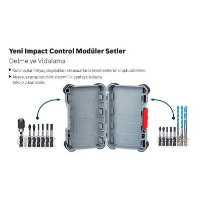 Bosch Impact Control Serisi Çift Taraflı Vidalama Ucu 8'li T15 *65mm BOSCH