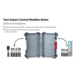 Bosch Impact Control Serisi Vidalama Ucu 8'li PH1/PH2 x3/PH3/PZ2 x2/PZ3 *25mm - Thumbnail