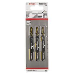 Bosch Inox (Paslanmaz Çelik) İçin Özel T 118 AHM Dekupaj Testeresi Bıçağı - 3'Lü Paket - Thumbnail