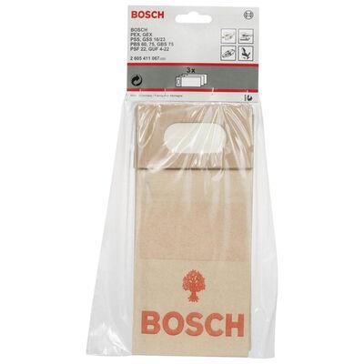 Bosch Kağıt Toz Torbası (Tek Kullanımlık) 3lü BOSCH