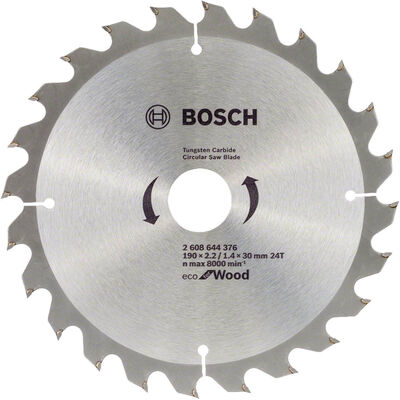 Bosch Optiline Eco Serisi Ahşap için Daire Testere Bıçağı 190*30 mm 24 Diş
