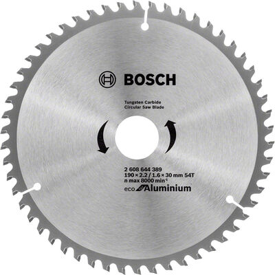 Bosch Optiline Eco Serisi Alüminyum için Daire Testere Bıçağı 190*30 54 Diş