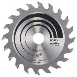 Bosch Optiline Serisi Ahşap için Daire Testere Bıçağı 130*20/16 mm 20 Diş - Thumbnail