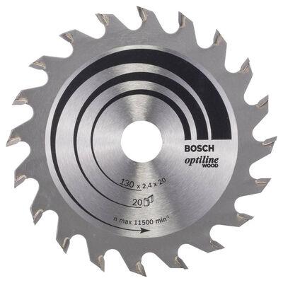 Bosch Optiline Serisi Ahşap için Daire Testere Bıçağı 130*20/16 mm 20 Diş
