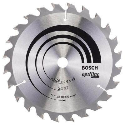 Bosch Optiline Serisi Ahşap için Daire Testere Bıçağı 184*16 mm 24 Diş