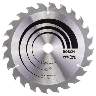 Bosch Optiline Serisi Ahşap için Daire Testere Bıçağı 190*20/16 mm 24 Diş