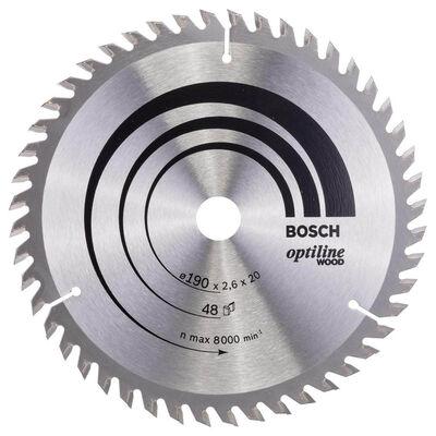 Bosch Optiline Serisi Ahşap için Daire Testere Bıçağı 190*20/16 mm 48 Diş