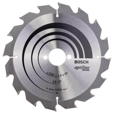 Bosch Optiline Serisi Ahşap için Daire Testere Bıçağı 190*30 mm 16 Diş