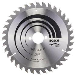 Bosch Optiline Serisi Ahşap için Daire Testere Bıçağı 190*30 mm 36 Diş - Thumbnail