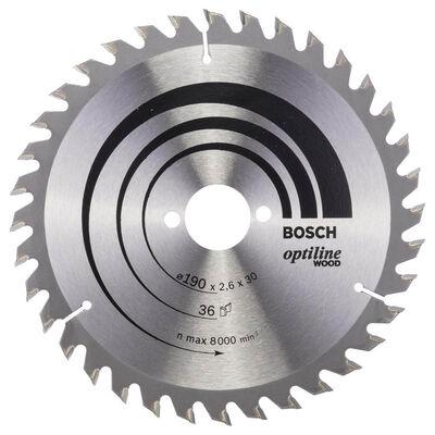 Bosch Optiline Serisi Ahşap için Daire Testere Bıçağı 190*30 mm 36 Diş