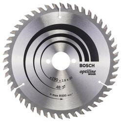 Bosch Optiline Serisi Ahşap için Daire Testere Bıçağı 190*30 mm 48 Diş - Thumbnail